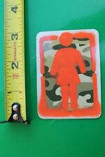 Girl Skateboards Chocolate Camouflage Orange Z9 Vintage Skateboarding Sticker