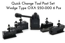 QUICK CHANGE TOOL POST SET WEDGE TYPE #250-000 OXA 6 PCE