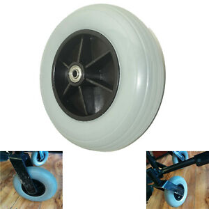 1x 8-inch front tyres For Folding Wheelchair with Park Brakes Folding Armrests