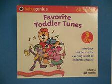 Baby Genius Favorite Toddler Tunes on Three CDs