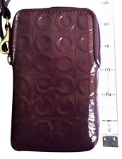 AUTHENTIC COACH JULIA OP ART EMBOSSED PATENT LEATHER UNIVERSAL PHONE CASE - RARE