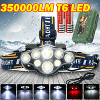 350000LM CREE T6 LED Headlamp Headlight Torch Flashlight Work Light Waterproof