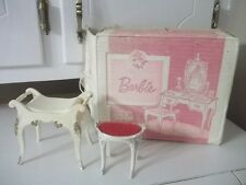 VINTAGE SuZy Goose Barbie VANITY  STOOL DOLLHOUSE ORIGINAL BOX NO VANITY