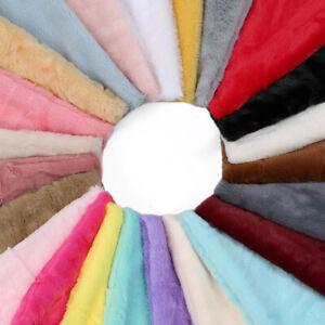 Faux Fur Fabric Material, Soft Cuddly Luxury Handle, 23 Plain Colours, Neotrims