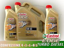 OLIO MOTORE CASTROL EDGE TURBO DIESEL 5W-40 CONFEZIONE 6 litri