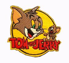 TOMMY & JERRY Embroidered Iron On Badge Applique Patch