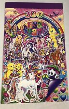 Lisa Frank Sticker Book 300 Stickers New 4 Pages Colorful Unicorns Puppies