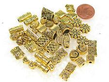 Metallperlen - Mix   goldfarben-massiv   50 Stück
