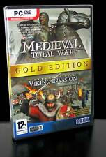 MEDIEVAL TOTAL WAR GOLD EDITION EX PACK VICKING INVASION GIOCO NUOVO PC IT PG470