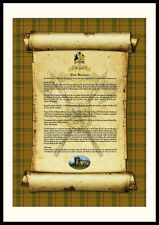 CLAN HOUSTON - Clan History, Tartan, Crest, Castle & Motto MOUNTED PRESENTATION