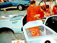 1968 VINTAGE GULF OIL AD GT40*Mustang Shelby GT 500/40/350/Cobra/decal/emblem/67