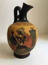 Dionysus Greek God Vase Amphora Museum Replica Reproduction Handmade Pottery