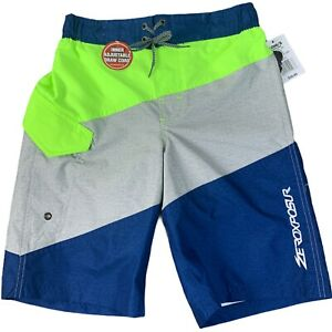 ZeroXposur Youth Swim Trunk Surf Shorts Size M - 10 / 12 Neon Lime R50450 NEW
