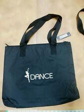 "Bloch A301 Basic Black Dance Bag Zipper Top Zipper Side nylon canvas 18"" x 14"""
