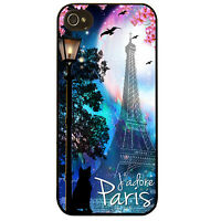 Eiffel tower Paris City vtg pretty girly french skyline cat art phone case cover