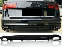 Für Audi A6 4G 14-18 S-line Stoßstange Diffuser RS6 Look Diffusor Wabengrill #01