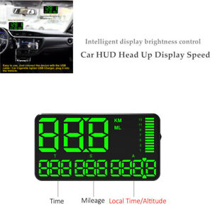 DC 5V Digital GPS Speedometer Car HUD Head Up Display Speed Display Alarm System