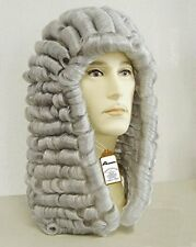 New Style Lawyer Judge Wig - Long Curly Gray Silver Men Historical Costume Wig