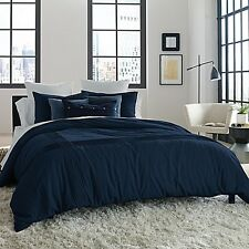 Kenneth Cole Reaction Home Structure TWIN Duvet Cover INDIGO NAVY BLUE NWT $150
