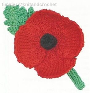 KNITTING PATTERN FOR REMEMBRANCE DAY POPPY