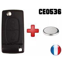 Coque+pile clé clef plip télécommande peugeot 207 307 308 Partner CE 0536