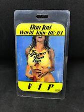 Bon Jovi World Tour 86-87 Authentic VIP Pass HOF Inductee