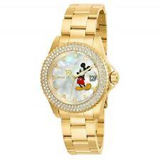 Invicta Women's Ladies Watch Disney Mickey Mouse Quartz Stainless St. Gold Tone
