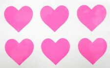 Set of 6 Hearts **RED or PINK ONLY** Girly Car Truck Window Vinyl Decal Sticker