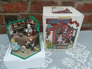 Enesco The Franklin County General Store Deluxe Action Musical Box Working