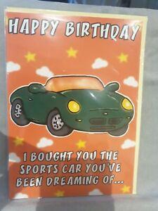 Funny Humorous Birthday Card Male Husband Dad Grandad Friend . NEW