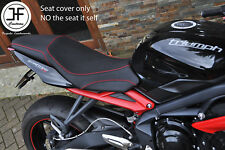 Diseño 3 de agarre B rojo DS St Personalizado se ajusta a Triumph Street Triple 675 13-16 Cubierta de asiento