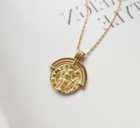 Kette Choker 'Antique' 925 Sterling Silber Gold