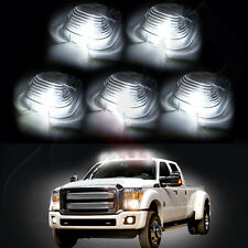5x Clearance Cab Marker Light Clear Cover + Xenon White  Bulbs for Ford Pickup
