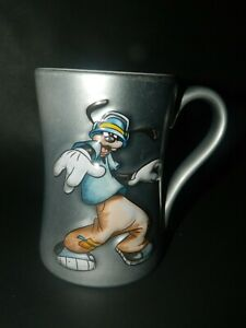 Disney Store Exclusive large 3D Silver Matte COOL FUNKY Goofy Mug