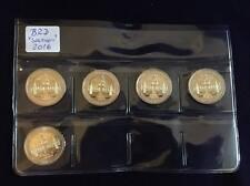 """Deutschland 5 x 2 Euro Gedenkmünze 2016 """"Sachsen"""" ADFGJ"""