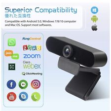 hd webcam with microphone 2k full HD camera video