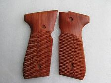 Beretta full size model 92, 96, M9 grip Haft checkered hardwood ship from Thai