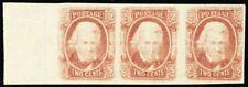 CSA 8, Mint 2¢ XF OG Never Hinged Strip of Three - Hard To Find! - Stuart Katz