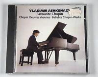 Vladimir Ashkenazy Piano: Favourite Chopin Classical Music CD