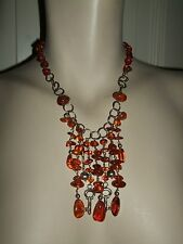 COLLANA NECKLACE COLLIER ARGENTO AMBRA NATURALE BALTICA AMBER CIONDOLO 44 CM