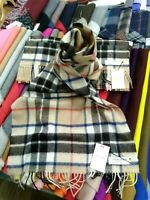 100% Lambswool Wide Scarf | Locharron | Made in Scotland | Camel Thompson Stole
