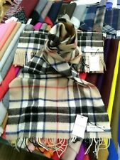 100% Lambswool Wide Scarf   Locharron   Made in Scotland   Camel Thompson Stole