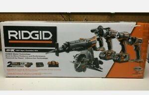 RIDGID 18V Cordless 5-Tool Combo Kit (R9652) NEW