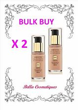 BULK 2 X Max Factor Facefinity All Day Flawless 3 in 1 Foundation 50 Natural