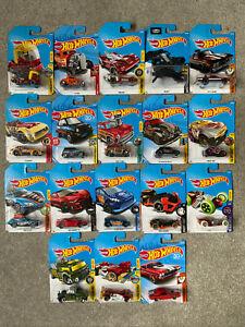 Hot Wheels Bundle Job Lot of 18 Vehicles - New on Cards - Joblot 6 - Long Cards