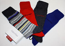 CALVIN KLEIN Dress men's socks 4 pairs multicolor NEW