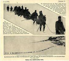 Una marcia militare sulle Alpi zillerthaler 14. austriaco. INF. - REG. dovette... 1902