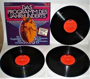 3-LP-Box  V.A. DAS PROGRAMM DES JAHRHUNDERTS - POLYDOR  CLUB-SONDERAUFL. D 1977