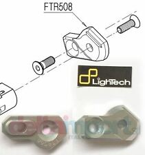 Piastrina mobile lato cambio Track System SILVER LIGHTECH FTR508 FOOTPEG HOLDER