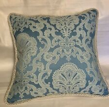 French Country Cottage Garden English Cushion Paris Lace Blue Ivory Farm Pillow